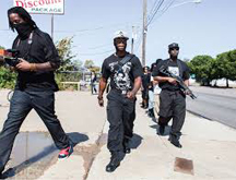 black panthers with guns