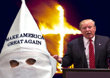 trump and the kkk