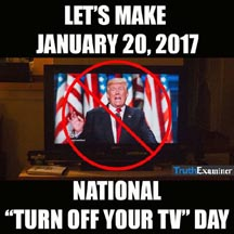 turn off tv Jan 20