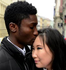 black asian couple