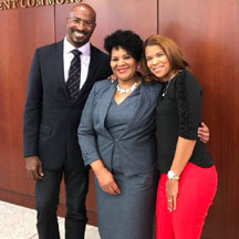 van jones, mary alice johnson, and  kemba and kemba smith