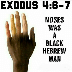exodus - moses is Black