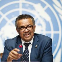 WHO's chief Dr Tedros Adhanom Ghebreyesus