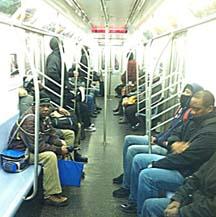 black men on bus