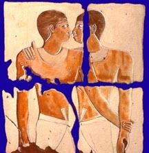 egyptian men hug