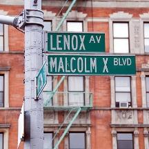 malcolm X at Lenox Avenue